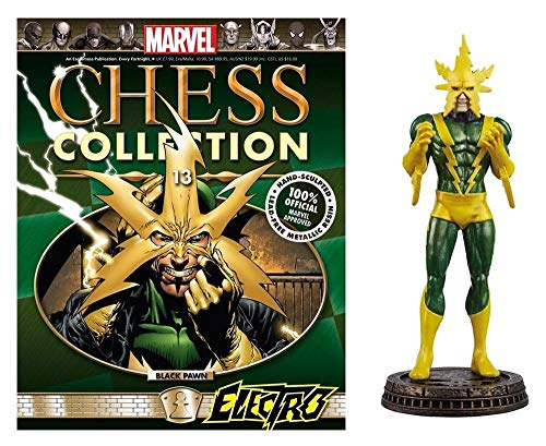 Eaglemoss Marvel Chess Collection Electro Black Pawn Chess Piece with Collector Magazine