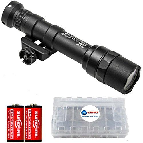 Surefire M600 Ultra Scout Light Ultra-High-Output LED Weaponlight M600U-Z68-BK 500 Lumens w/ 4x Surefire CR123A and Battery (Surefire High Output Lamp)