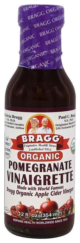 Bragg USDA Organic Pomegranate Vinaigrette Dressing 12 oz   1 Pack
