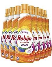 Robijn Klein & Krachtig Color Vloeibaar Wasmiddel voor bonte en gekleurde was - 8 x 20 wasbeurten - Voordeelverpakking