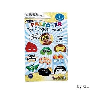 Rite Lite Judaica Passover Plague Masks, Set of 10