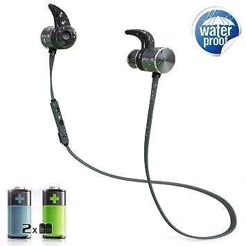Amazon Com Awxlumv Sweatproof Bluetooth Wireless Headphones With
