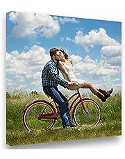 Lienzo 50x50 Personalizado con Foto y(o) Texto. Personalizalo Online. Impreso en Calidad fotográfica. Lienzo Tejido (300g)