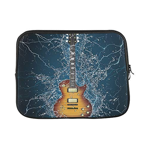 Design Custom Electric Guitar Water On Black Sleeve Soft Laptop Case Bag Pouch Skin for Air 11