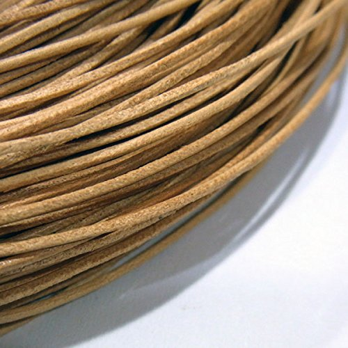 TheTasteJewelry 1mm Natural Color Genuine Leather Cord Rope Jewelry Making 20m String (Suede Cow Leather)