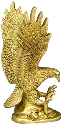 Eagle Ornament Gifts Indian Figurine Sculpture Brass Metal Art 6.5 Inch