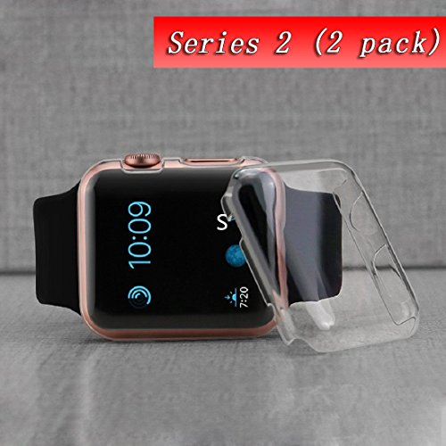 Price comparison product image Smilelane wcase-c25 Apple Watch 2 Case, IWatch Series 2 Full Cover Screen Protector, Ultra-Thin Clear PC Hard for Apple Watch Series 2 38 mm - 2 Piece