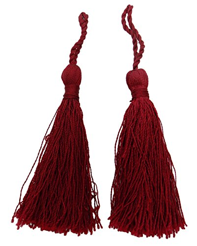 - Decorative Thread Latkans Salwar Kameez Crafting Maroon Tassels Supply 1 Pair