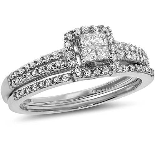 Set Diamond Bridal Eternity Band - 9
