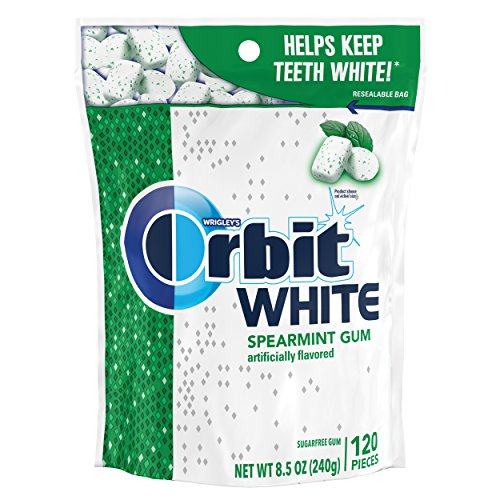 Orbit White Sugarfree Gum, Spearmint, 120 Count (Pack of 8) - Wrigleys Orbit White Spearmint
