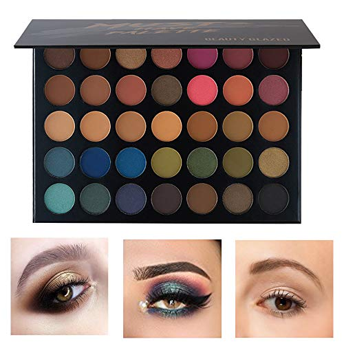Beauty Glazed Professional Makeup Eyeshadow Palette 35 Colors Natural Colors Shimmer and Matte Eye Shadow Set Long-lasting Cosmetic High Pigment Make Up Palettes