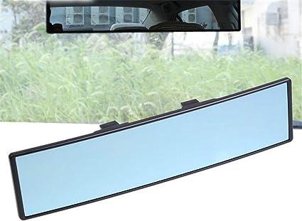 Milopon Panorama Rückspiegel Auto Innen Rückspiegel Universal Innenspiegel Auto Pkw Lkw Anti Blend Winkeleinstellung Rückspiegel Küche Haushalt
