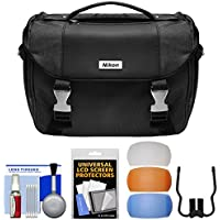 Nikon Deluxe Digital SLR Camera Bag Case with Pop-up Flash Diffusers + Cleaning Kit (Certified Refurbished)