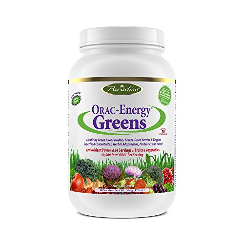 Capsules Herbs Supplements (Paradise Herbs Orac Energy Vegetarian Capsules, Greens, 120 Count)