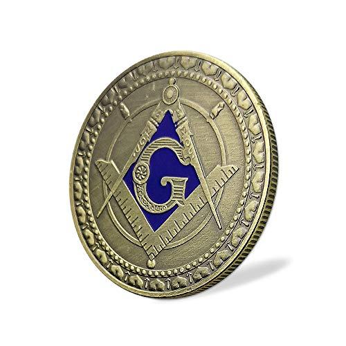 Masonic Angel Challenge Coin Square & Compass Freemasonry Master Mason  Collectible Gift for Blue Lodge