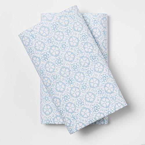 (Simply Shabby Chic Cotton Standard Pillowcases Set of 2 - Phantom Blue Print)
