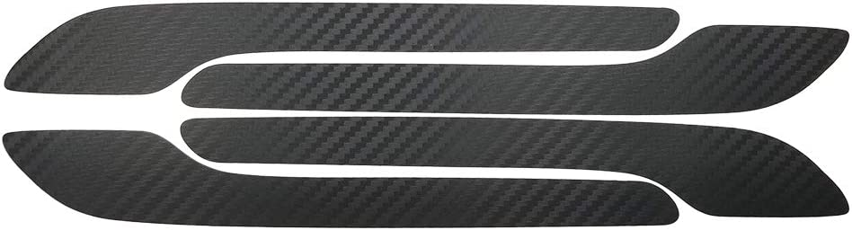 Glossy Carbon Fiber Carbon Fiber Style Panel with Exterior Car Door Handle Wrap Protector Cover Protector Accessories for Tesla Model 3 Center Console Wrap Kit