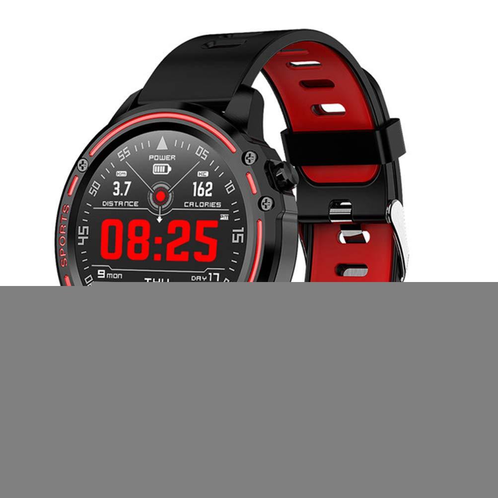 Rouge ZLOPV Montre Intelligente Montre Intelligente Sport pour Hommes avec Mesure de la Pression ECG PPG Fréquence Cardiaque   IP68 Etanche Reloj Hombre Mode