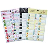 198 Labels Creative Self-Laminating Baby Bottle Name Labels for Kids, Waterproof Name Labels/Tags/Stickers for Daycare and School, 8-Sheets