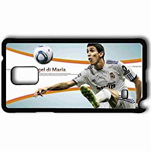 Personalized Samsung Note 4 Cell phone Case/Cover Skin Angel di maria Black
