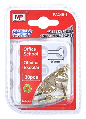 MP PA 345-1-Set da 30 pezzi, 19 mm, colore: oro Madrid Papel Import S.L. PA345-1
