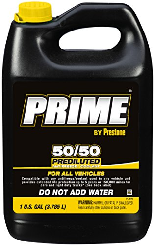 Prestone AF3100-6PK Prime All Vehicle 50/50 Antifreeze - 1 Gallon, (Pack of 6) by Prestone