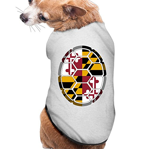 [Maryland Flag Shell Summer Costumes, Clothing, Shirt, Vest, T-shirt, Puppy Pet Dog Cat Fashion 100% Polyester Fiber Tee Gift For Any Animal Fan Lovers Ash] (Greek Cat Costume)