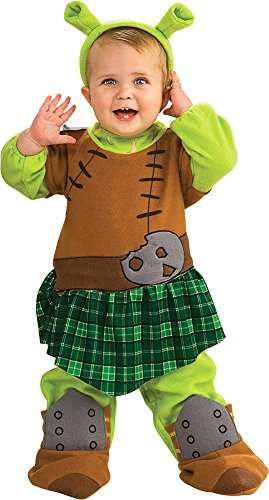 [0-6 Months - Shrek 4 Fiona Warrior Newborn Baby Costume] (Warrior Fiona Costumes)