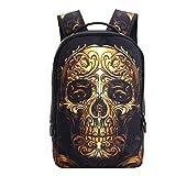 School Backpack 23L Bookbag Bag High Middle Backpacks for Men Women Boy Girls, Skull Style (color-0119)