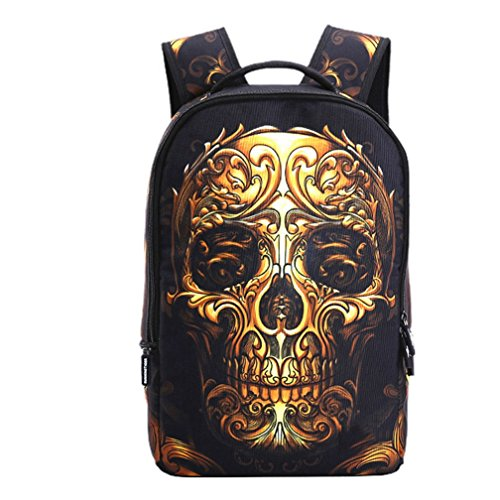 School Backpack 23L Bookbag Bag High Middle Backpacks for Men Women Boy Girls, Skull Style (color-0119)