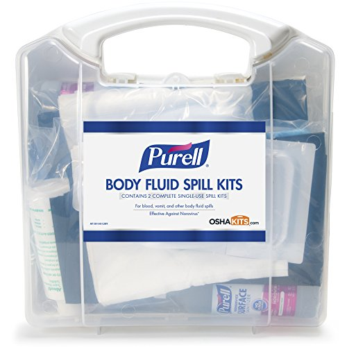 PURELL Body Fluid Spill Kit in Clam Shell Carrier, 2 Spill Kit Uses per Clamshell - ()