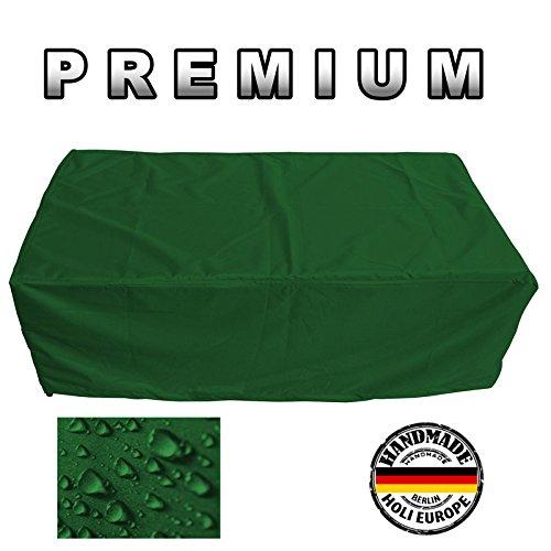 PREMIUM Schutzhülle Gartenmöbel Abdeckung / Gartentisch Abdeckplane B 200cm x T 160cm x H 75cm Tannengrün
