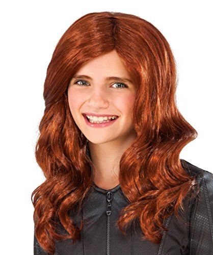 Child Black Widow Costume (Rubie's Costume Captain America: Civil War Kid's Black Widow Wig)