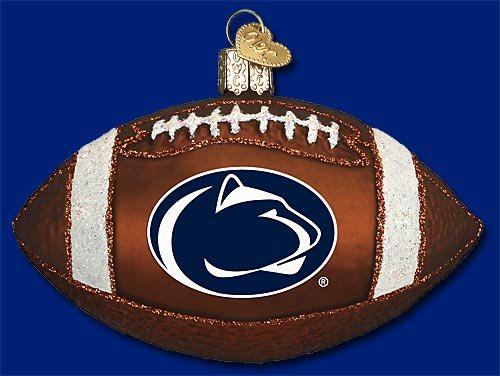 NCAA Penn State Nittany Lions 4'' Glass Football Ornament