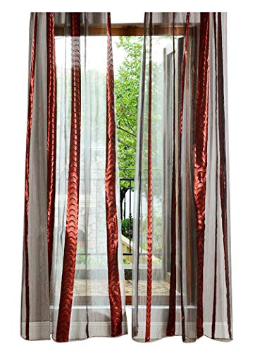 Knife 300 Pocket Knives (Aside Bside Jacquard Graphic Floral Pattern Luxury Rod Pocket Top Sheer Voile Curtains Window Tulle Curtain Treatment Drapes for Living Dining Room & Bedroom(1 Panel, W 100 x L 84 inch, Red))