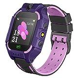 Kids Smartwatch Phone Boys Girls - Game Smart Watch with Call Games Camera Alarm 1.54 inch Touch Screen Wristwatch Cellphone Watch for Students Cellphone Watch Children Birthday Gifts (Dark Purple) ...