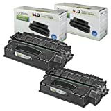 LD © HP Remanufactured CE505X (05X) Set of 2 Black Laser Toner Cartridges for the P2055 Printers, Office Central