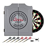 TRADEMARK GAMES Coors Light Dartboard Set