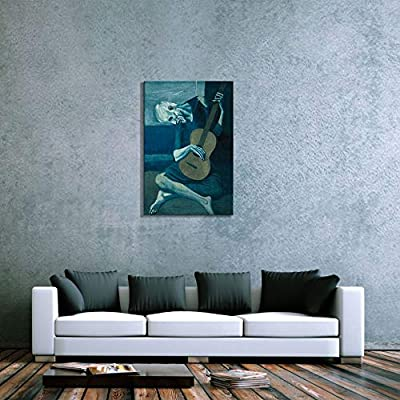 The Old Guitarist by Pablo Picasso - Canvas Art Wall Art - 24