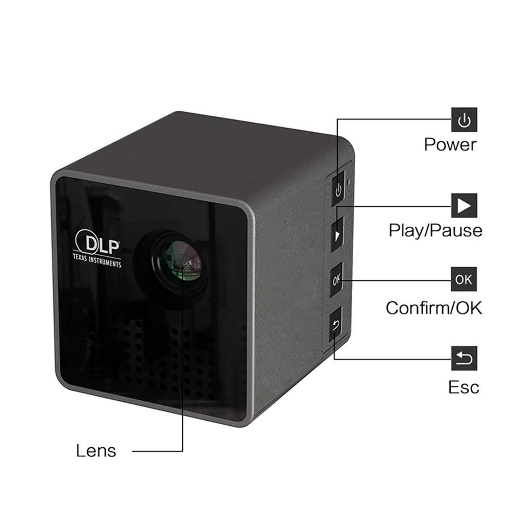 RONSHIN Electrónica Ultramini DLP Projector Full HD Mini Cine en ...