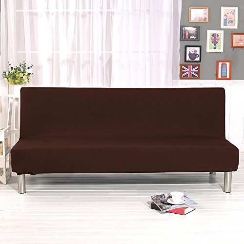 Wendysy Sofa Cover Solid Color All-Inclusive Folding Stretch Sofa Bed Sofa Cover Protector Slipcover Without Armrests Water-Repellent Couch Covers Dog Cat Pet Proof Couch Slipcovers Protectors