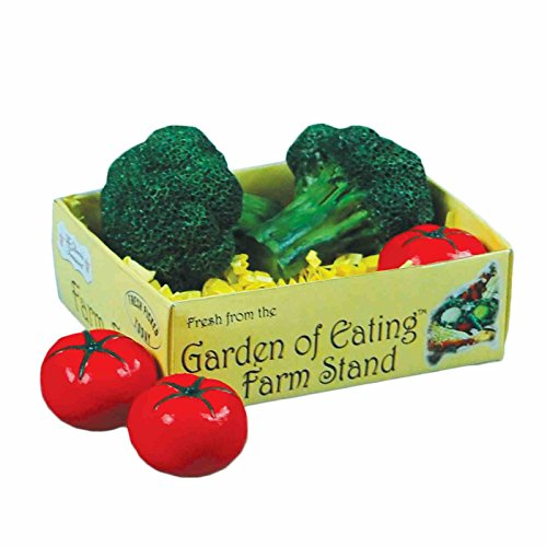 (The Queen's Treasures Farm Fresh Paper 18 Inch Doll Vegetable Crate W/2 Broccoli Heads & 3 Tomatoes! Food Kitchen Accessories Fits American Girl Dolls & More. Use Interchangeable Farm Stand)