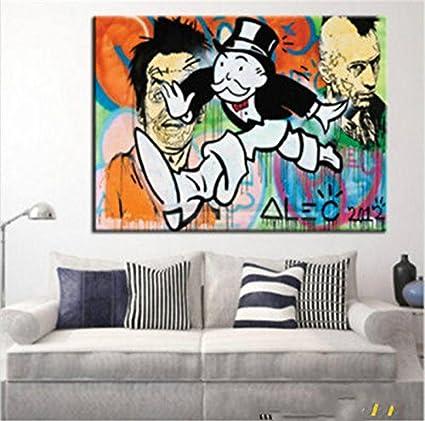 Amazon.com: Alec monopoly Graffiti art Men\'s portrait ,MODERN ...