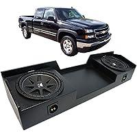 Fits 1999-2006 Chevy Silverado Ext Truck Kicker Comp C12 Dual 12 Rhino Coated Sub Box - Final 2 Ohm