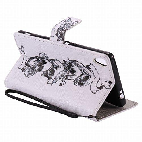 LEMORRY Sony Xperia XA Ultra (F3212, F3216) Custodia Pelle Cuoio Flip Portafoglio Borsa Sottile Fit Bumper Protettivo Magnetico Chiusura Standing Card Slot Morbido Silicone TPU Case Cover Custodia per