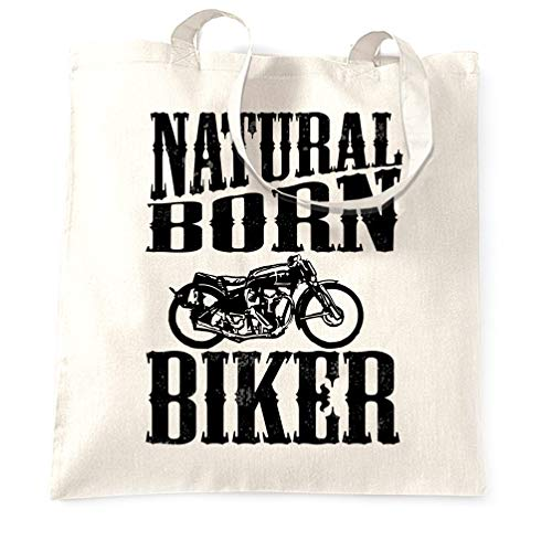 Awesome Biker COTTON TOTE FATHERS DAY Gift Birthday Motorbike cycle ABIKER,BAG
