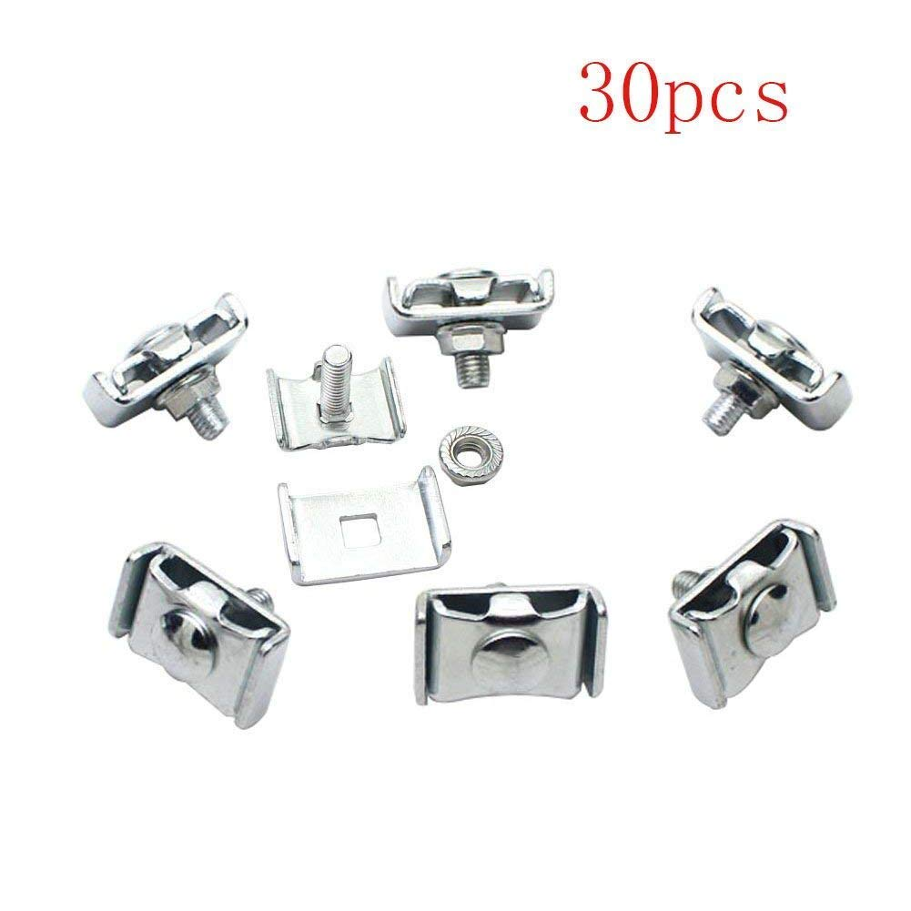 Mike Home Stainless Steel Joining Clip for Grid Wall Panels Display Mesh Panel Connectors Clip 20 Pcs