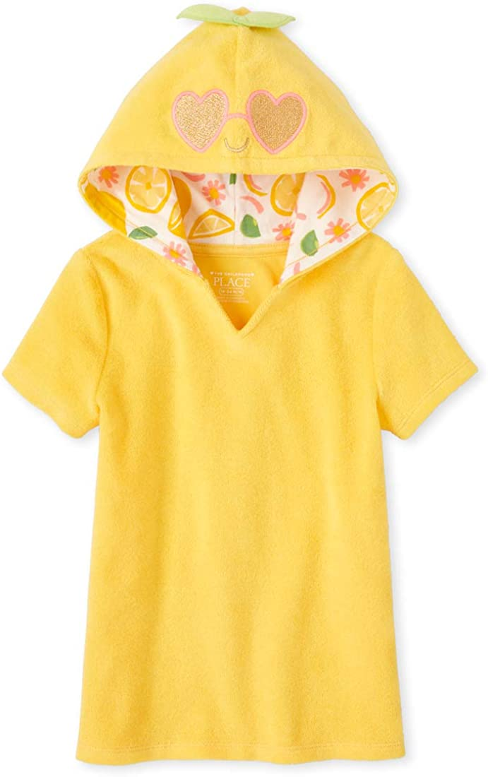 The Childrens Place Girls Lemon Hooded Cover Up