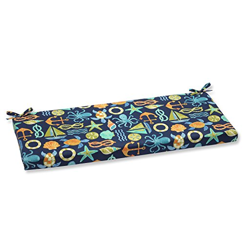 Pillow Perfect Outdoor Seapoint Bench Cushion, Neptune