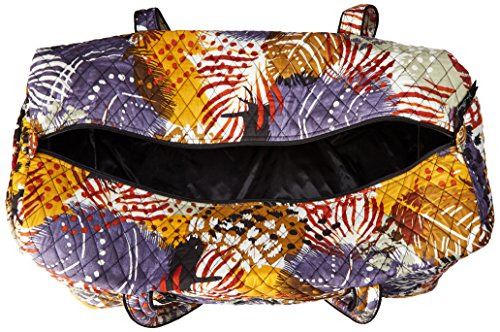 Women's Large Duffel, Signature Cotton, Painted Feathers by Vera Bradley (Image #5)